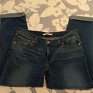 Levi's Boyfriend Crop Jeans w/cuff Sz 29